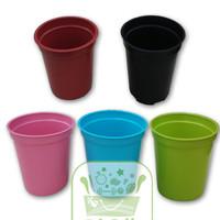 Pot Tanaman Plastik / Pot Es Krim / Ice Cream Pot Warna Warni 8 cm