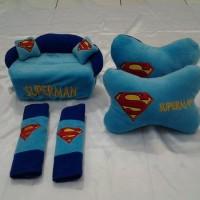 Bantal Mobil Superhero Superman 3 In 1 (Bantal, Bantal Mobil, Bantal H