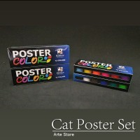 Cat Poster Set 12 Warna