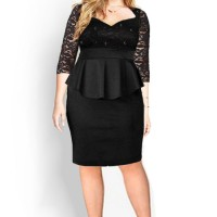 Dress Brokat/Lace Big Size Jumbo XXXXXXL Kode: 0950