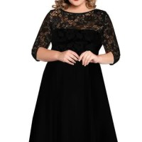 Dress Brokat/Lace Big Size Jumbo XXXXXXL Kode: 0912-2 Black