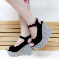 Sandal Wedges Wanita Tinggi 12cm SDW70 | Sandal Wanita Terbaru