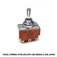 Togel Spring 6 Pin (On Off On) Nikkai S-338 Original Japan