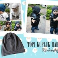 Kupluk Topi Bayi Anak Multifungsi 2in1 - MJ Hat Kupluk Abu-abu