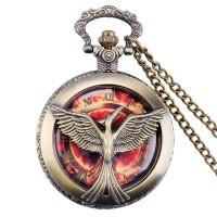 Kalung Jam Pocket Vintage Hunger Games