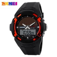 SKMEI Solar Power Sport LED Watch AD1056E - Red