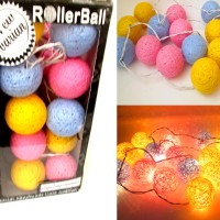 Jual Cotton Ball Light (Lampu Hias Indoor warna bisa request ) Murah