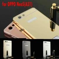 OPPO NEO 5 A31 Aluminum Metal Bumper Mirror Hard Back Case