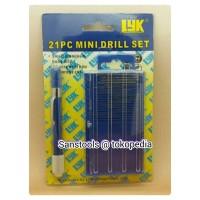 mini drill set 21 pcs LYK / rojok spuyer / rujuk spuyer