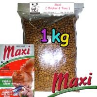 Makanan Kucing Murah Maxi Cat food Chicken & Tuna - Repack 1 kg