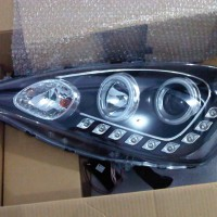 Headlamp Projector LED Starline Crystal Black Housing Honda Jazz 08-11