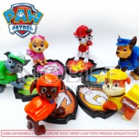 6pc PAW Patrol Figure Set-Nickelodeon Toys Cute-Puppy-Anak Anjing Lucu