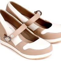 harga sepatu casual wanita sintetis Garsel E 533 krem kombinasi Tokopedia.com
