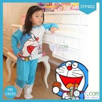 Baju Tidur Anak Setelan Doraemon Happy Terlaris