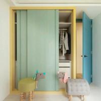 lemari pakaian anak pintu sliding 2 pintu jati jepara