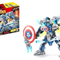 MAINAN ANAK BLOCK LEGO - BLOCK SUPER HEROES CAPTAIN AMERICA - 90009A
