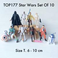 TOP177 Star Wars Set Of 10 Mainan Anak Pajangan Hiasan Kue Tart Ultah