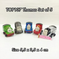 TOP137 Thomas Set Of 5 Mainan Kue Tart Hiasan Pajangan Cup Cake Baking