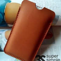 Leather Case Pouch Huawei Y5 / Batik ( Sarung Celup Hp )