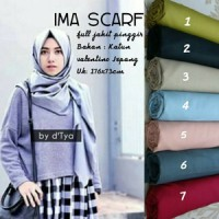 Hijab Ima Scraf Hijab SegiEmpat Rempel Polos dan Motif Hijab Satin