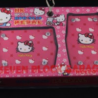 PEDAL GAS MOBIL MATIC UNIVERSAL HELLO KITTY PINK