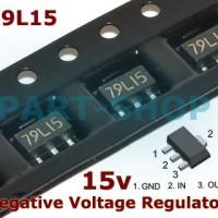 IC 79L15 SMD 7915 0.1A -15V Negative Voltage Regulator SOT89