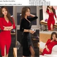 Dress Pesta Sexy Merah, Hitam, Silk Katun Murah Import, Cina, Korea