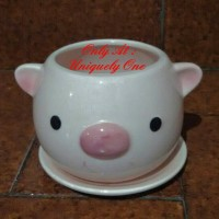 Jual POT PORCELAIN TANAMAN HIAS KAKTUS MINI BONSAI BUNGA  BABI PIGGY PIG Murah