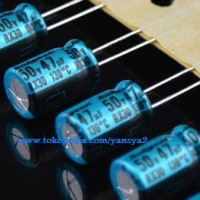 47uF 50v Electrolytic Capacitor/ Kapasitor (ELCO) Rubycon RX30
