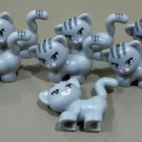 Jual Lego Minifigure Animal cat kitty grey kucing abu abu Murah