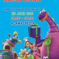 Kartu Undangan Ulang Tahun / Ultah / Birthday Dibo The Gift Dragon