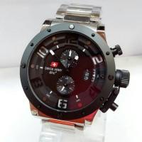 harga jam tangan pria SwissArmy 2267 original Silver Tokopedia.com