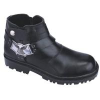 Jual Sepatu Semi Boot Safety Pria Bahan Kulit + Teel Toe Cap Murah