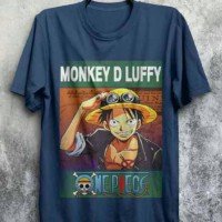 Luffy The Movie Kaos-Tshirt-Baju Distro Anime-Manga One Piece
