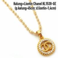 harga KL1539-GE Kalung+Liontin Chanel Perhiasan Lapis Emas Gold Tokopedia.com