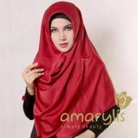 Jilbab Instan Amarylis Ruffle Plain Non Pet  (RF NP) Satin Silk