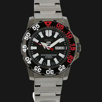 Seiko 5 Sports Snzf53k1 Mini Monster 100m Black