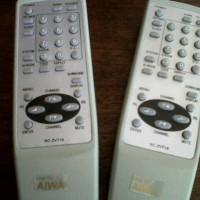 Remote tv Aiwa putih T16