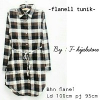 SUPPLIER FASHION REALPICT : FLANEL TUNIK BY F HIJABSTORE
