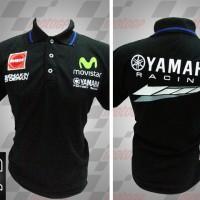 harga Baju-Pakaian Polo MotoGP Yamaha Movistar Hitam Tokopedia.com