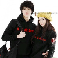 Sweater Jumper Couple CP AC Milan Black