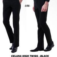 Jual Celana Kerja Formal Pria Slim Fit - Hitam / Dark Black Murah