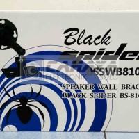 Black Spider Bracket Dinding Speaker 10 12 15 In Inch BS 810 WB Breket