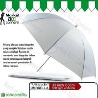 """Translucent Umbrella White / Payung Fotografer Studio 33"""" (83cm)"""