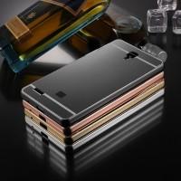 Xiaomi Redmi Note 3G/4G,Note 2/Prime Metal bumper Mirror Case, casing