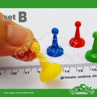 Bidak/Pion Set B-4pcs- Pelengkap Board Game-Monopoli-Ular Tangga-Ludo