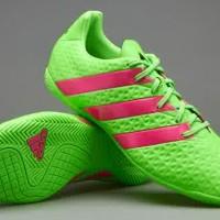Sepatu Futsal Adidas ACE 16.4 IN Green Shock Pink Black