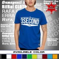 Kaos Distro murah 3SECOND /Tshirt murah/baju