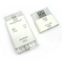 I-FlashDrive HD OTG Micro SD & TF Card Reader Lightning with Micro USB