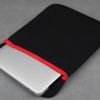 "17"" Laptop / Tablet Sleeve Bag Soft Material Multifungsi"